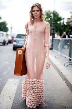 Paris Fashion Week streetstyle: Elena Perminova