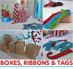 """Host a """"Pretty Packaging Party"""" to wrap all the gifts!"""