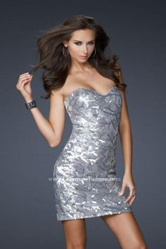La Femme Dress 17231 at Peaches Boutique
