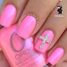 pink cross nails love this color Nail Art Tutorials, Color, Pink Nails, Nail Designs, Nail Arts, Finger, Crosses, Blues, Polish