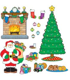 Christmas Scene Bulletin Board Set - Carson Dellosa Publishing Education Supplies