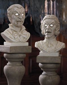 Guests won't believe their eyes as these marble heads begin to move and carry on conversations with one another (click here for a video clip!)