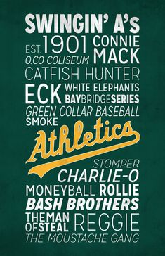 Oakland A's Poster!