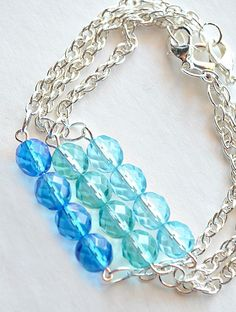 Loving these beautiful blue bracelets! Jewelry making inspiration from DIY Jewelry with Martha Stewart Crafts
