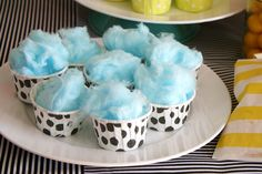 love the idea of cotton candy in little cupcake cups