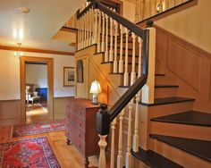 Well into the 19th century, only the wainscot and trimwork were painted in many American homes.