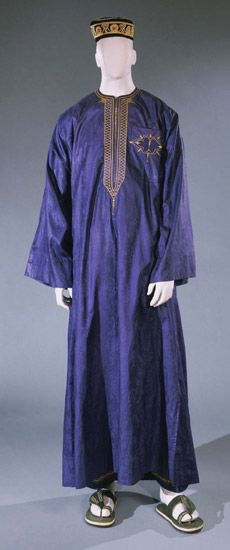 Festival ensemble for a man from the Ivory Coast, c. 1997.