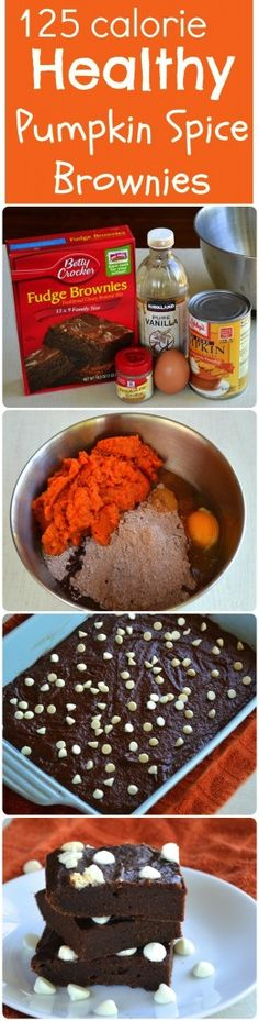 Skinny Pumpkin Spice Brownies