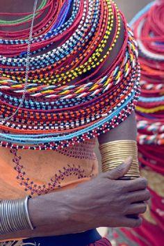 african inspir, pictur art, color, tribal beadwork, samburu tribal, art prints, poster, beads, panoram imag