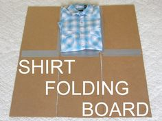 DIY Clothes folding board