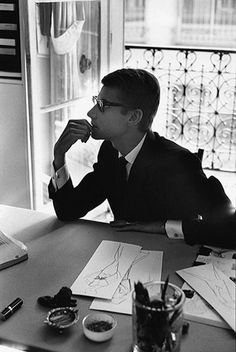 Young Yves Saint Laurent #Fashion #France