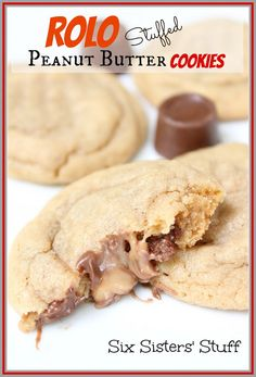 Rolo Stuffed Peanut Butter Cookies | Six Sisters Stuff