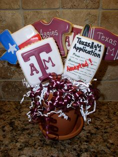 An Aggie cookie bouquet! These would be great for May!!!