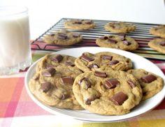 Chewy Chunky Chocolate Pumpkin Cookies- The perfect pumpkin cookie!