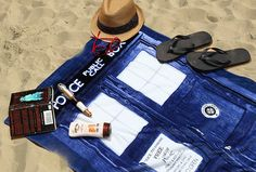 Tardis beach blanket from ThinkGeek