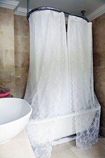 Roll Top Shower Curtain Heidi 39 S Bathroom Pinterest