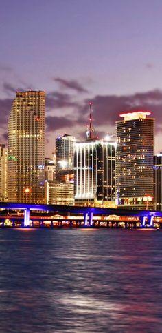 Miami at night.