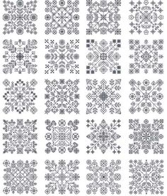 blackwork embroidery free patterns | To see all the designs on the CD in detail click here