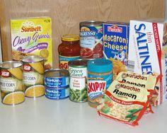 Basic nonperishable foods foods, nonperish food, food bank