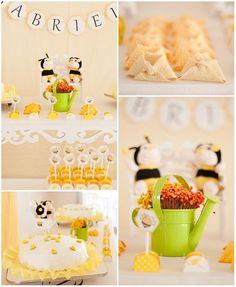 Bee Themed Baby Shower with Lots of CUTE Ideas via Kara's Party Ideas | Kara'sPartyIdeas.com #BeeParty #BabyShower #Ideas #Supplies #GenderNeutral (1) bumbl bee, bee theme, parti idea, babi shower, baby showers