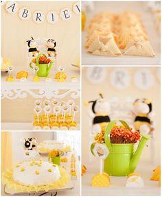 bumbl bee, bee theme, parti idea, babi shower, baby showers