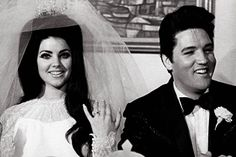 Priscilla and Elvis.