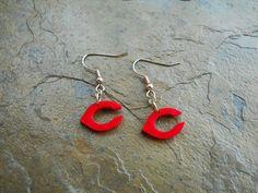 Cincinnati Reds Earrings by CustomSchoolSpirit on Etsy, $5.95