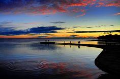 Croatia - Istria - Umag - Sunset scene