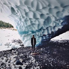 Earthcaching at GC1575A - Big Four Ice Caves, Washington.