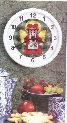 Kitchen Angel Clock Plastic Canvas Pattern by needlecraftsupershop, $1.99