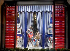 Cool nautical blues with pops of color in our 888 Madison Avenue store windows