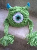 Mick the One Eye Monster (Monsters, Inc. Mike Wazowski hat)