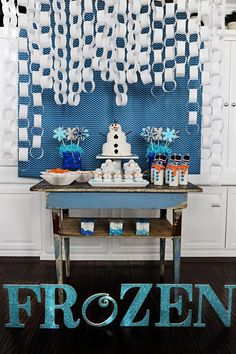 Disney's Frozen Party with So Many Cute Ideas via Kara's Party Ideas KarasPartyIdeas.com