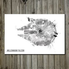 Millennium Falcon 17x11, $18, now featured on Fab.