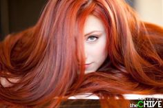 Gorgeous red hair.