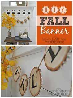 DIY rustic fall garl