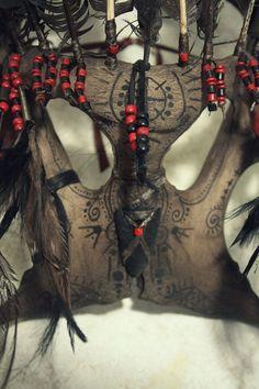Shaman Death Mask tribal style death ritual head by SylvaPagana