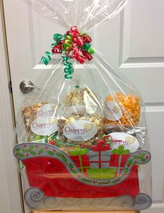 Chippy's Popcorn uses our Sleigh Basket Boxes!