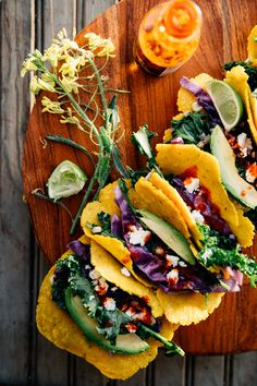 Vegetable Tacos with Feta and Lime
