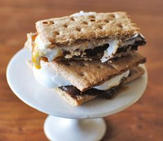 make fireplace s'mores