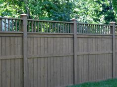 privacy fence...love the gray stain  ***Repinned by Normoe, the Backyard Guy (#1 backyardguy on Earth) Follow us on; http://twitter.com/backyardguy