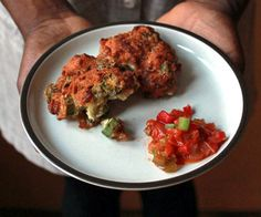 Okra is served many ways in Louisiana, but cornmeal adds a welcome toasty flavor of these golden okra fritters. Serve them hot with spicy stewed tomato relish.