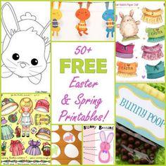 50+ FREE Easter & Spring Printables!