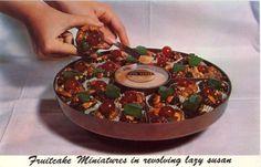 Fruitcake miniatures + Rum sauce
