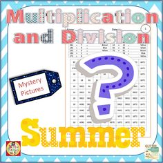 Review multiplication and division procedures all summer long. These print-and-go pages are perfect for early finishers or any time you have 20-30 minutes to review. Your students will beg you for more mystery pictures! $ #math