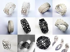 3d printer, jewelleri, nervous system, jewelry design, jewelri