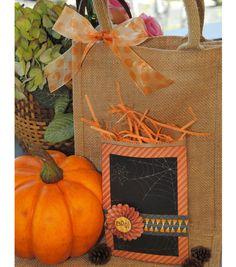 Halloween Goodie Bag | Burlap and Pumpkin Decor for Fall
