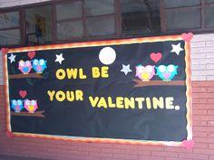 Valentine's day bulletin board.