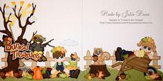 ELITE4U PMBY JULIE CHILD paper piecing kit/set 4 premade scrapbook pages album