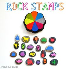 Rock Stamps -  A simple, cheap, and fun craft that kids will love.